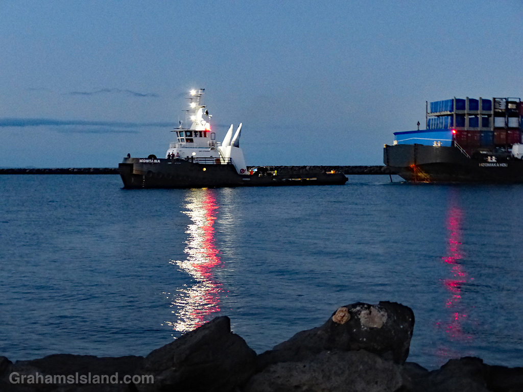 tug and barge lights