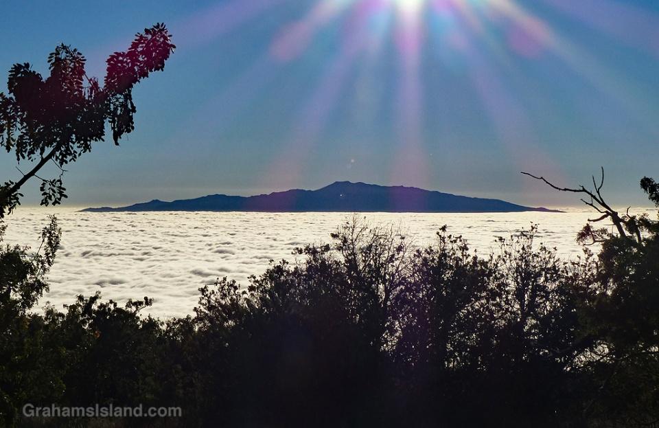 Hualalai and clouds
