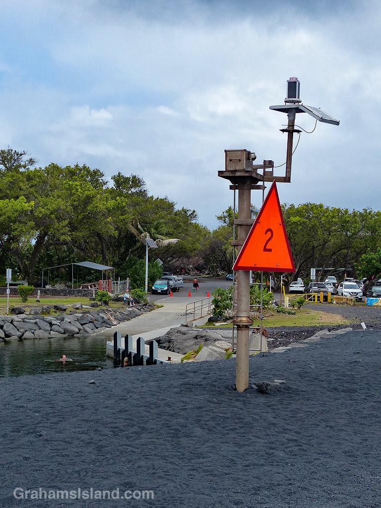 Pohoiki breakwater marker