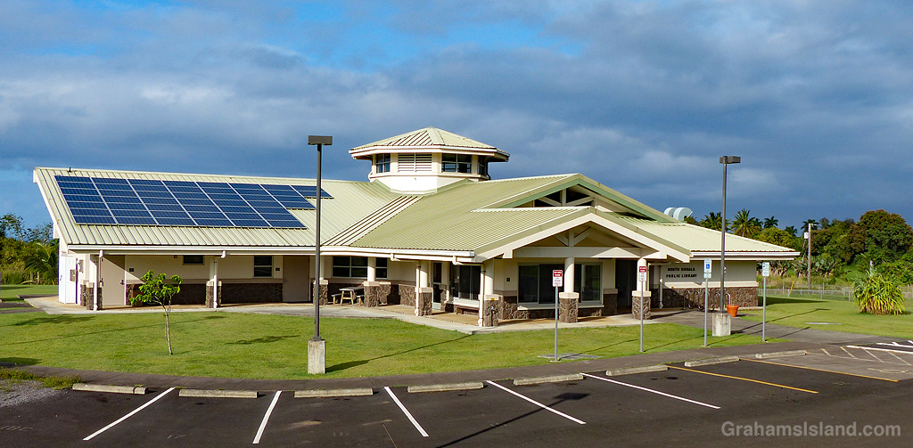 The new public library in North Kohala, Hawaii