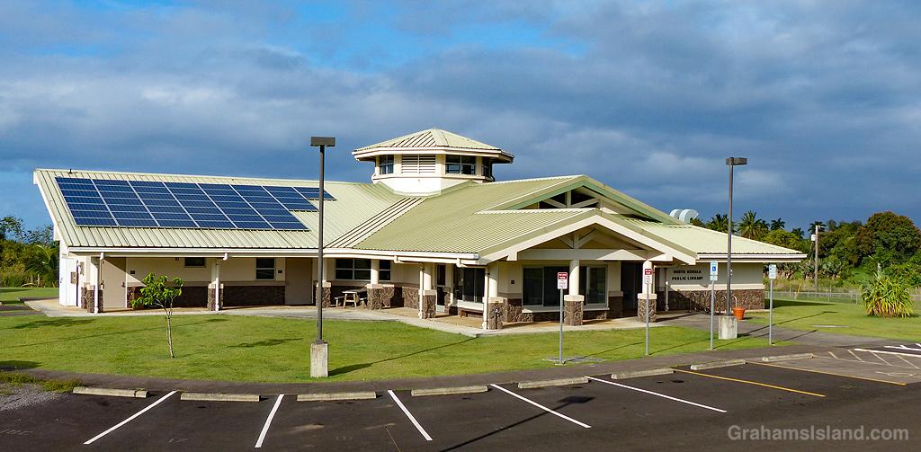 The new public library in North Kohala, Hawaii