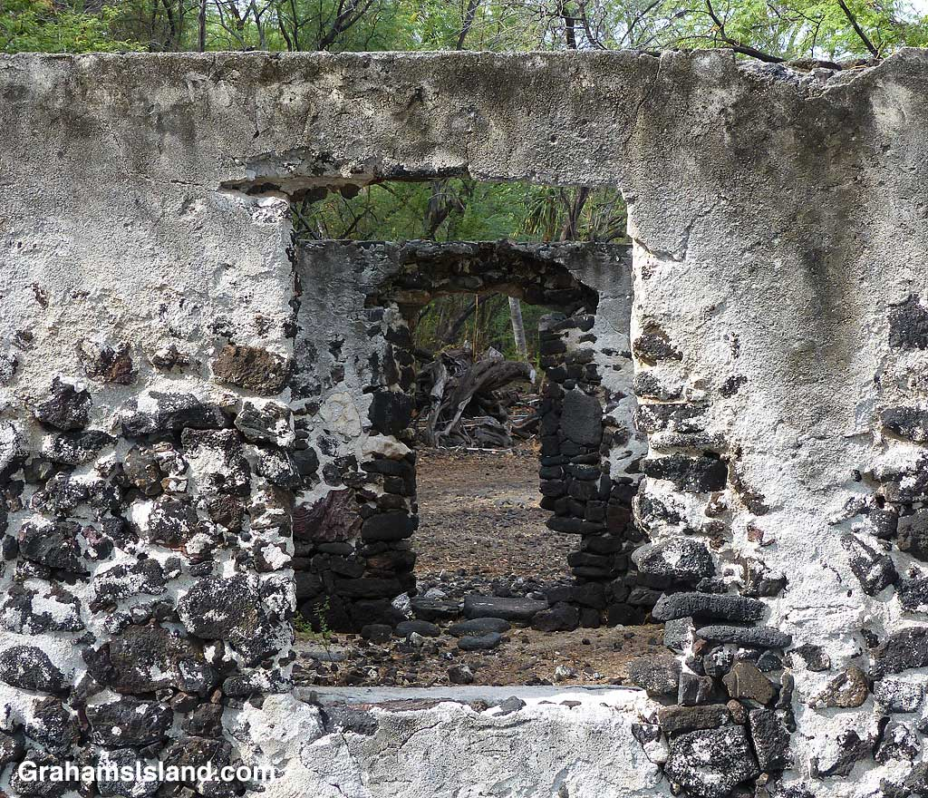 The remains of a building at Kiholo, Hawaii