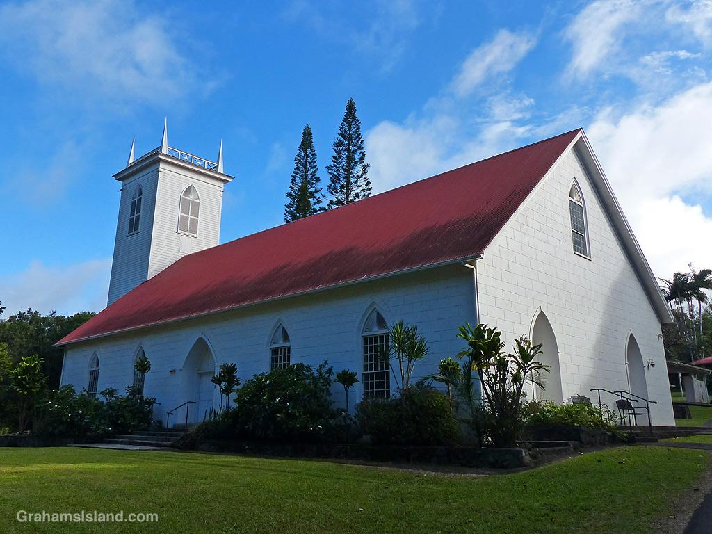 Kalahikiola Congregational Church near Kapaau, Hawaii