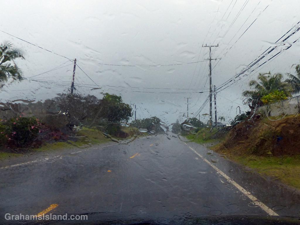 A rainy day in North Kohala, Hawaii
