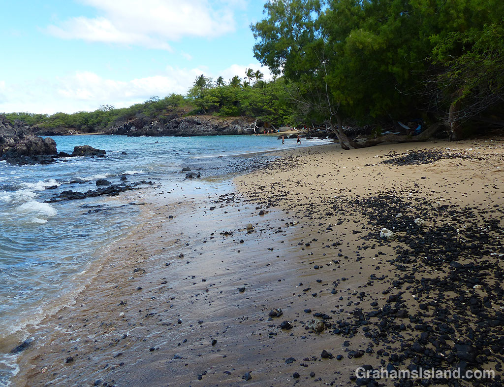 A beach at Waialea County Park, Hawaii