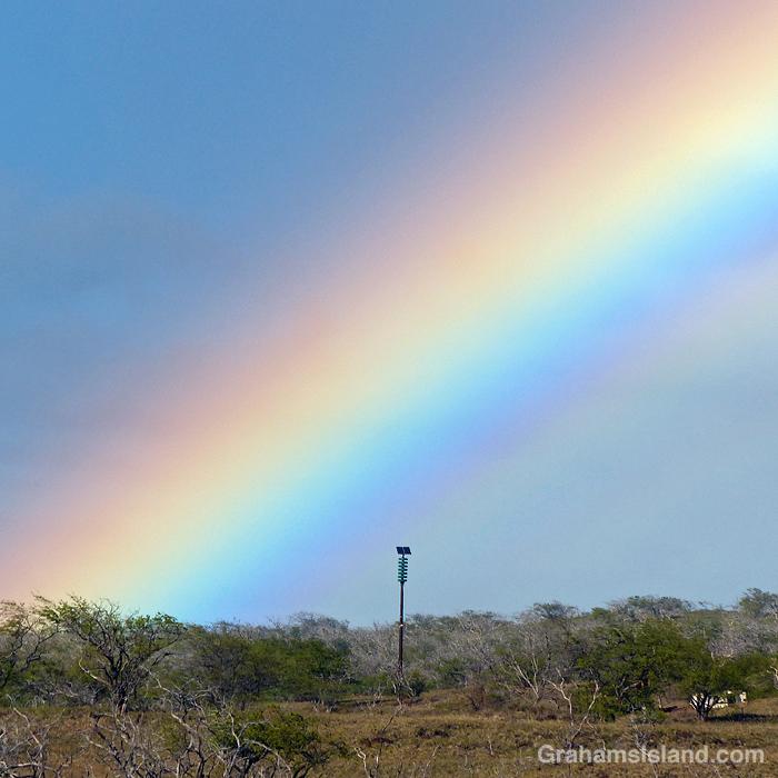 A rainbow over Kapaa Park, Hawaii