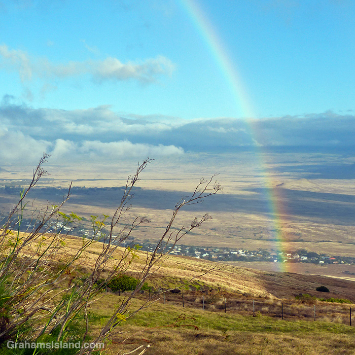 A rainbow over Waimea, Hawaii