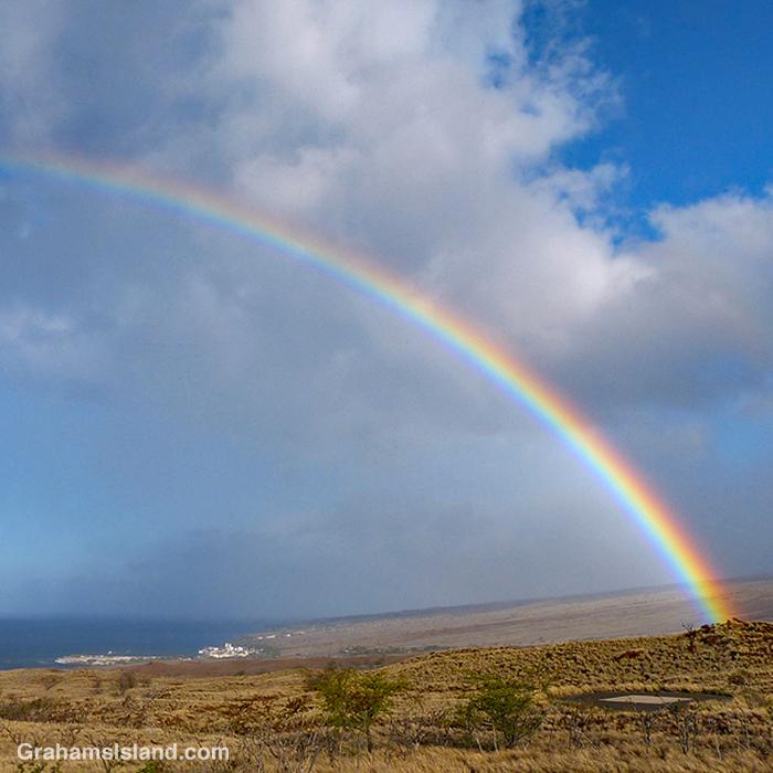 A rainbow over Kawaihae, Hawaii