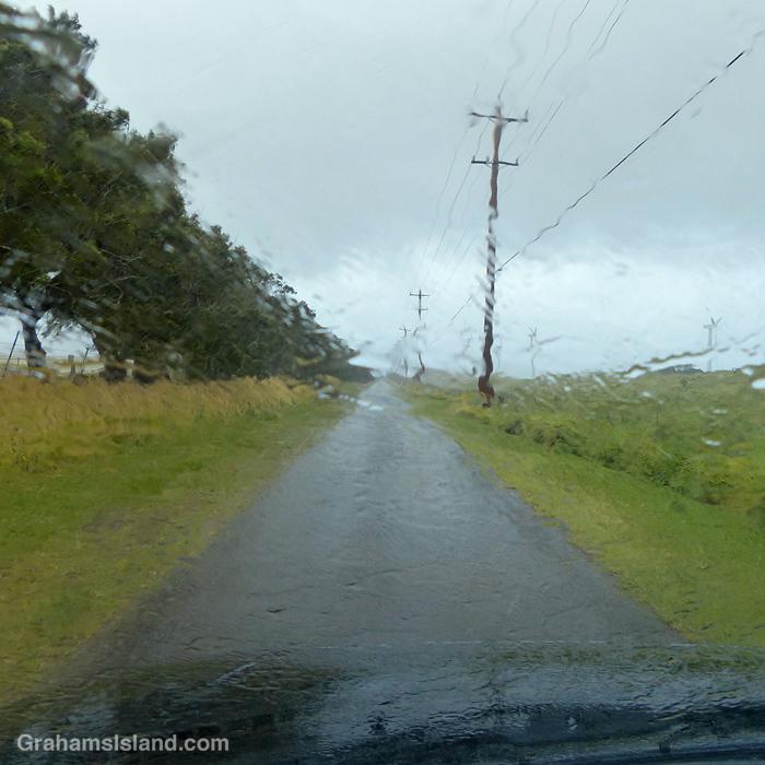 Rain falls at Upolu, Hawaii