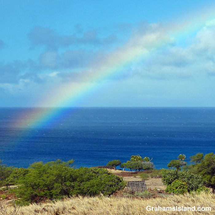 A Rainbow over Lapakahi, Hawaii
