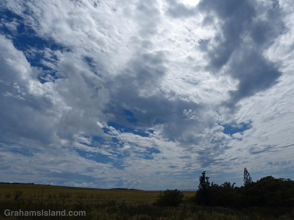 A cloudy sky in North Kohala, Hawaii