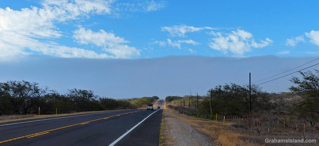 A band of cloud above North Kohala