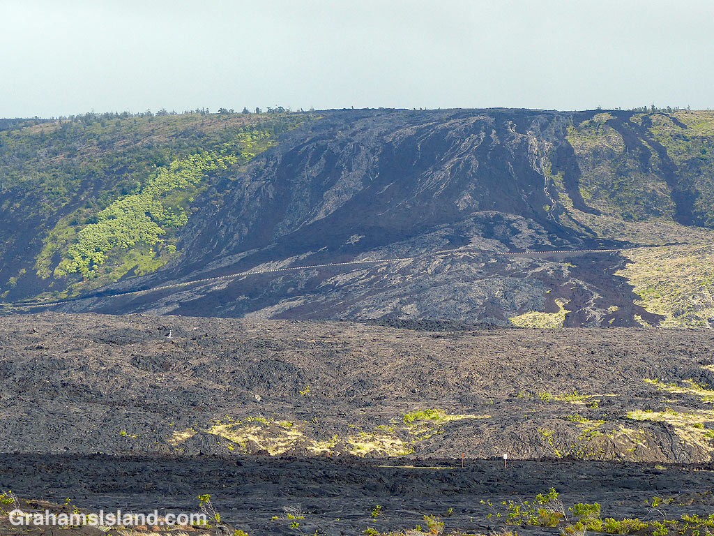 A Flow over Holei Pali in Hawaii Volcanoes National Park