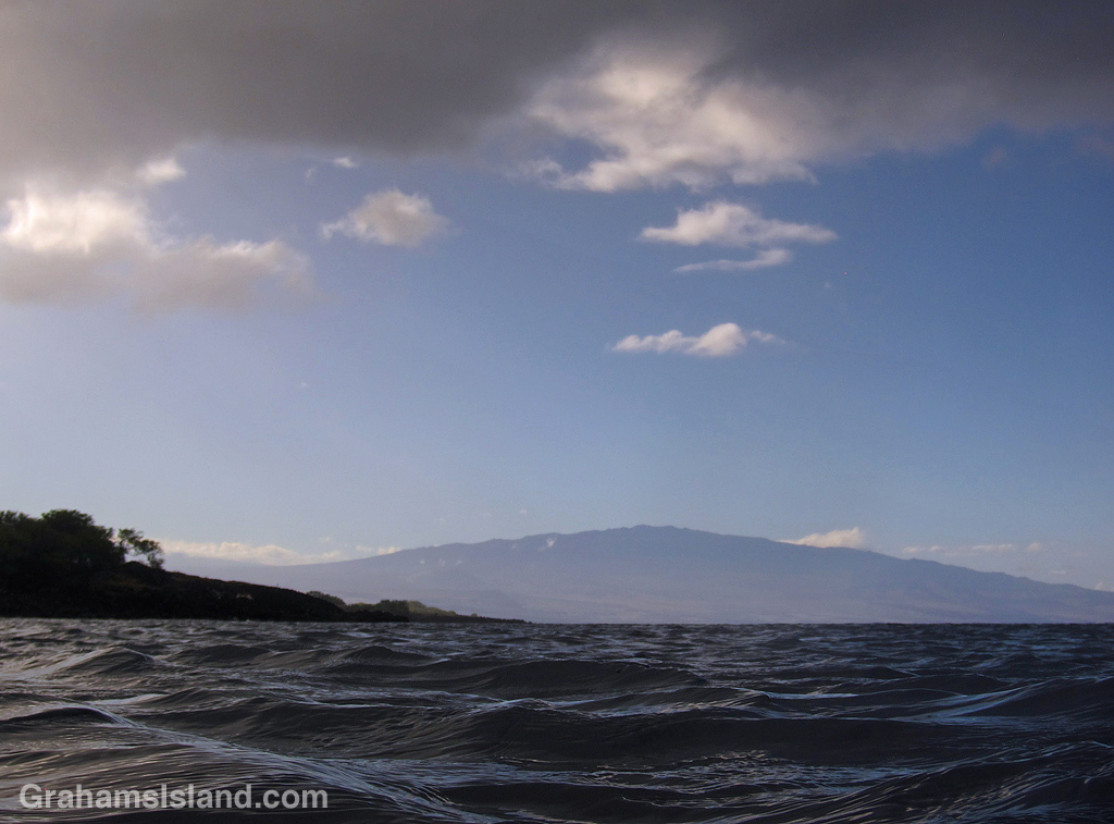 A view of Hualalai from the water