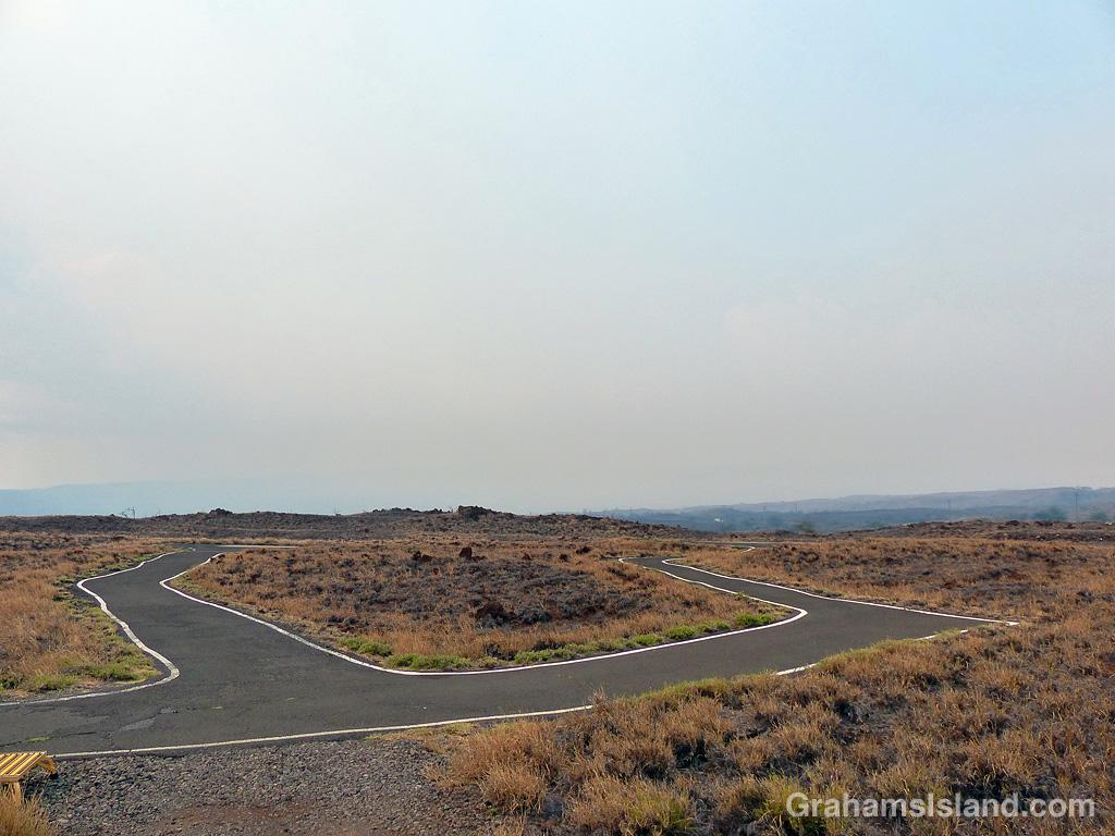 Smoke obscures Kohala Mountain Hawaii