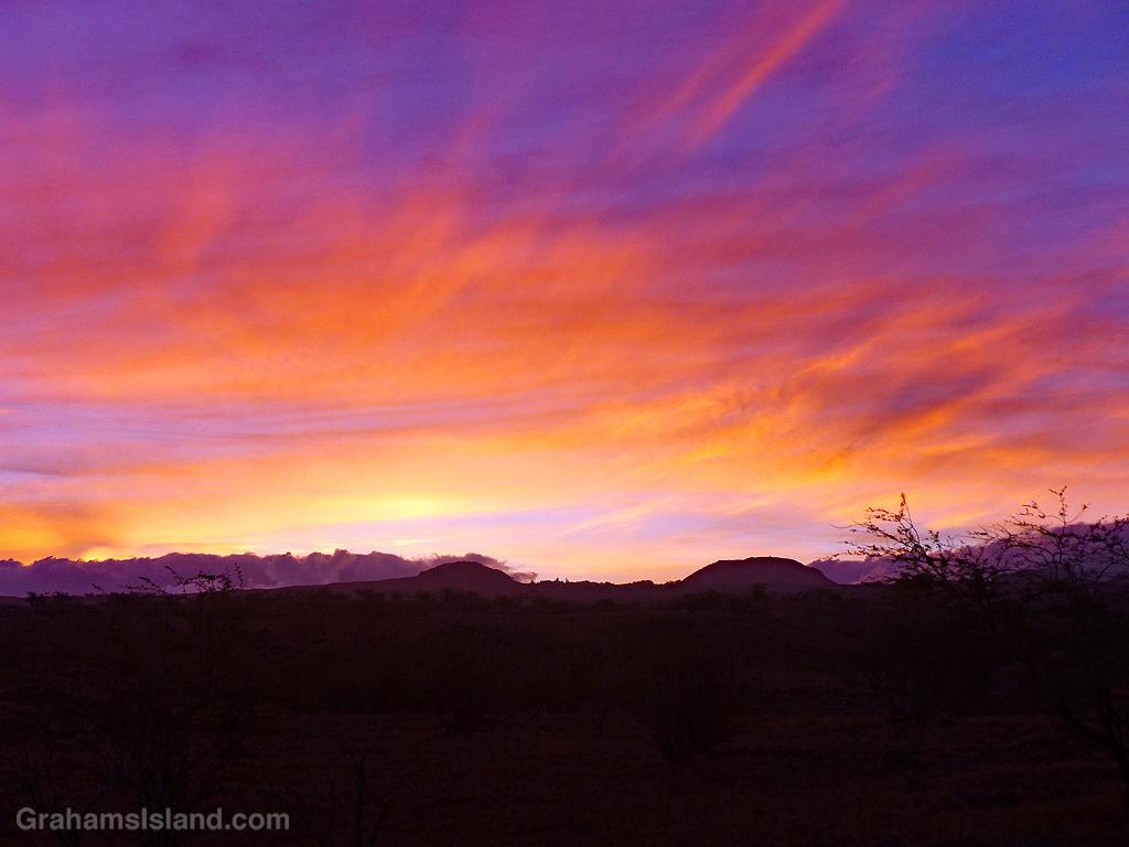 Sunrise over Kohala Mountains in Hawaii