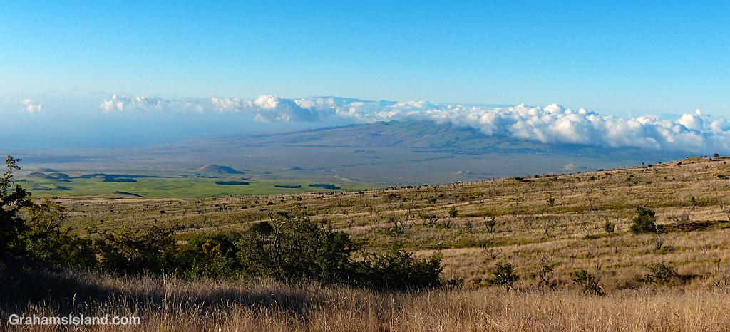 A view toward Kohala and Maui from the slopes of Mauna Kea