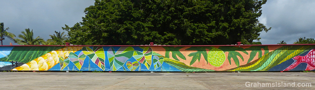 A colorful mural in Hawi, Hawaii