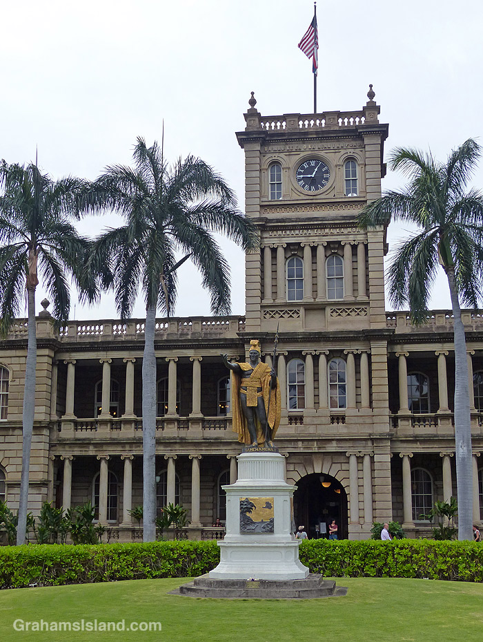 The King Kamehameha I statue in Honolulu
