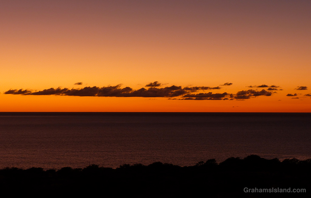A sunset on the Big Island, Hawaii