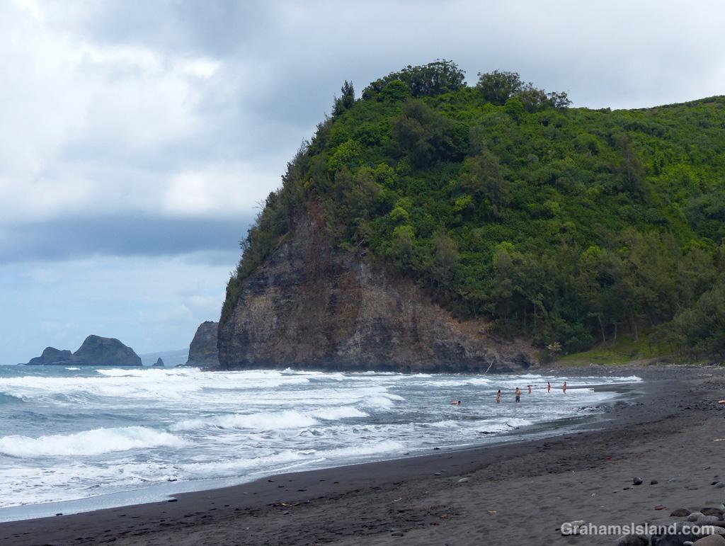 The beach at Pololu, Hawaii