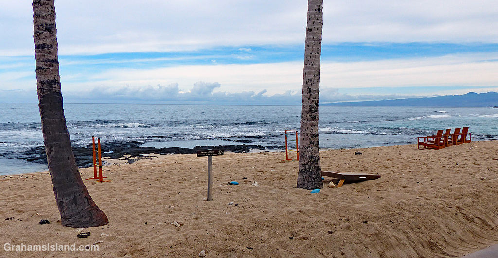 The beach in front of Four Seasons Resort Hualalai