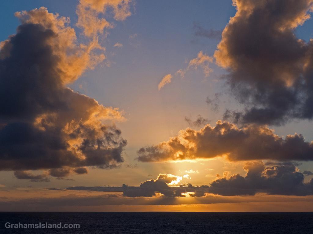 Sunset over Kahoolawe, Hawaii