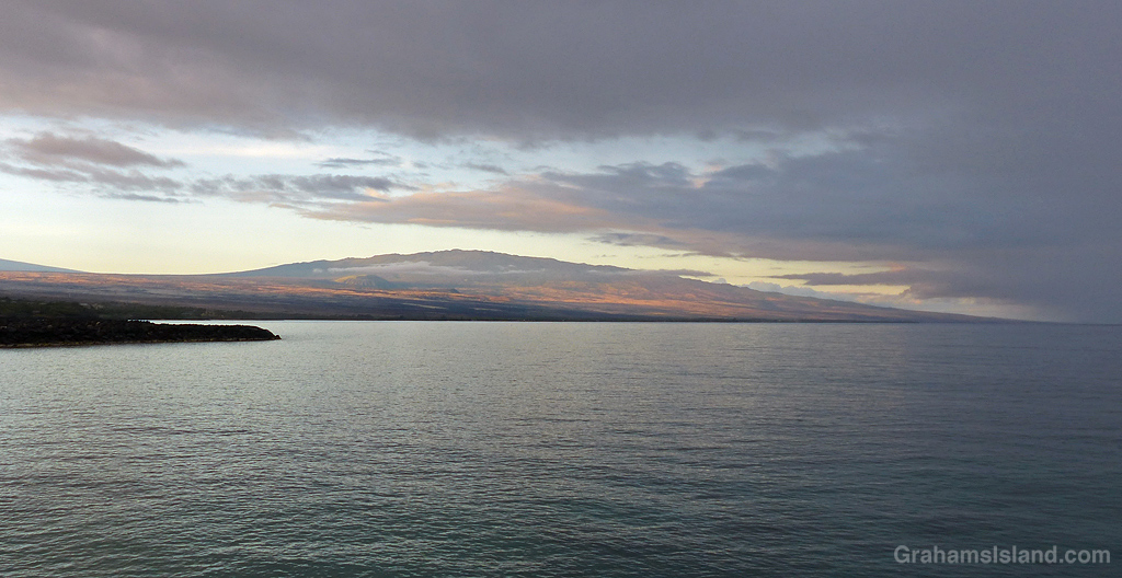 A view of Hualalai from Kaaihae