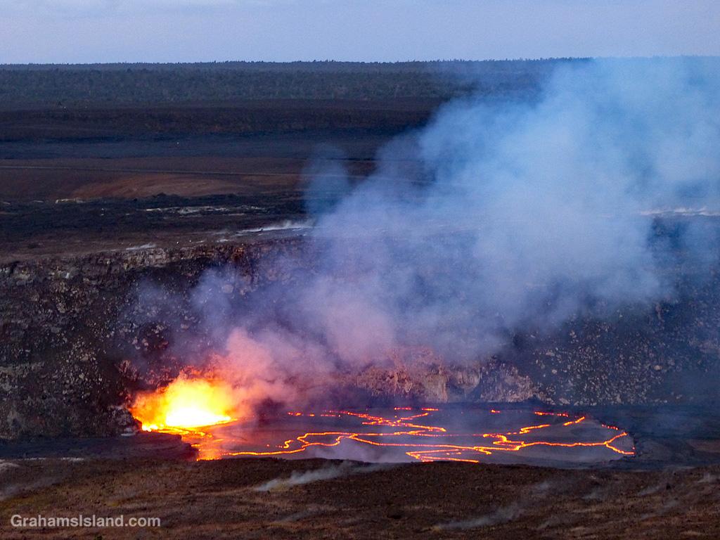 Activity at Kilauea in April 2018