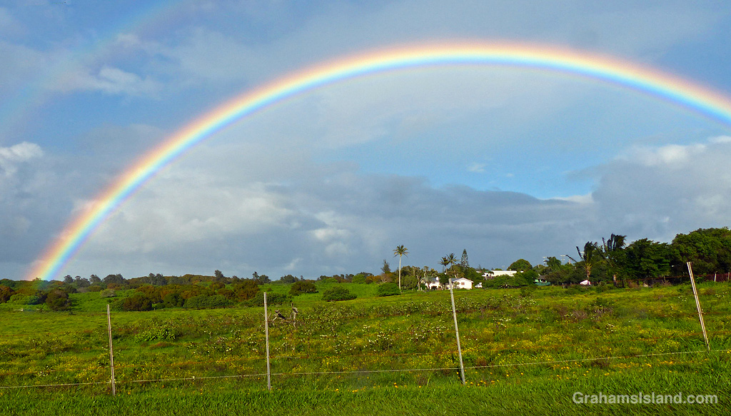 A rainbow in North Kohala