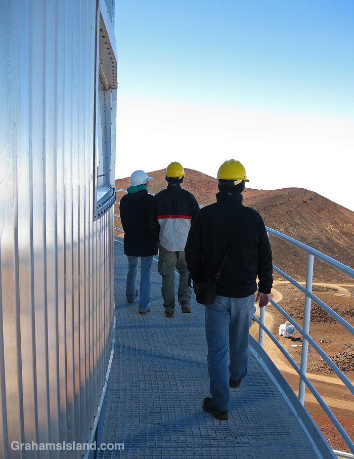 The walkway around the Subaru Telescope on Mauna Kea, Hawaii