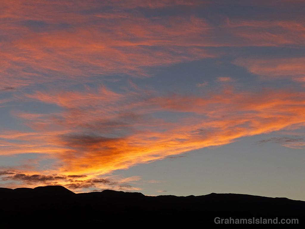 Sunrise over the Kohala mountains