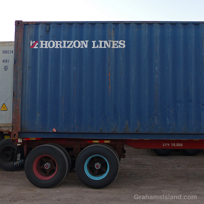 A Horizon Lines shipping container